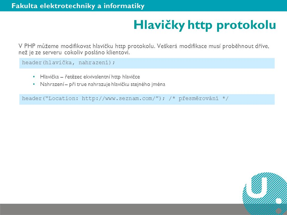 Hlavičky http protokolu