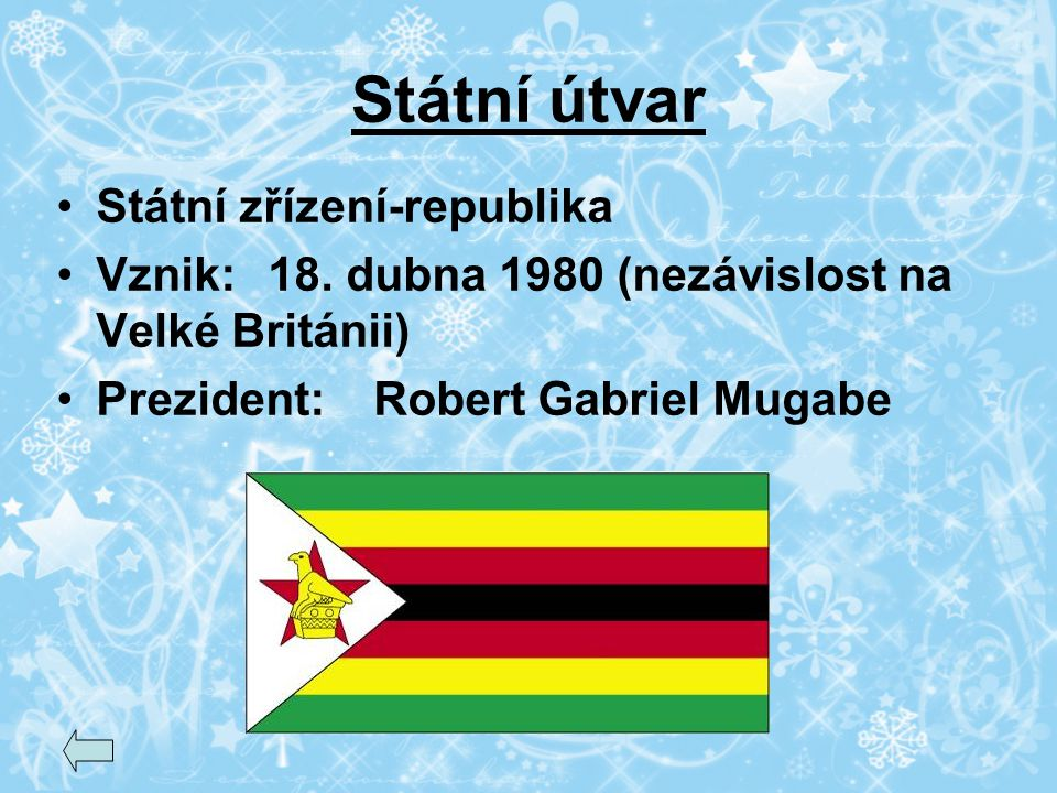 Státní útvar Státní zřízení-republika