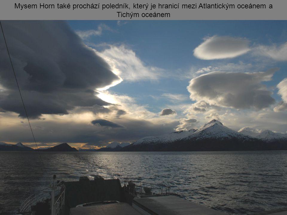 Mysem Horn také prochází poledník, který je hranicí mezi Atlantickým oceánem a Tichým oceánem