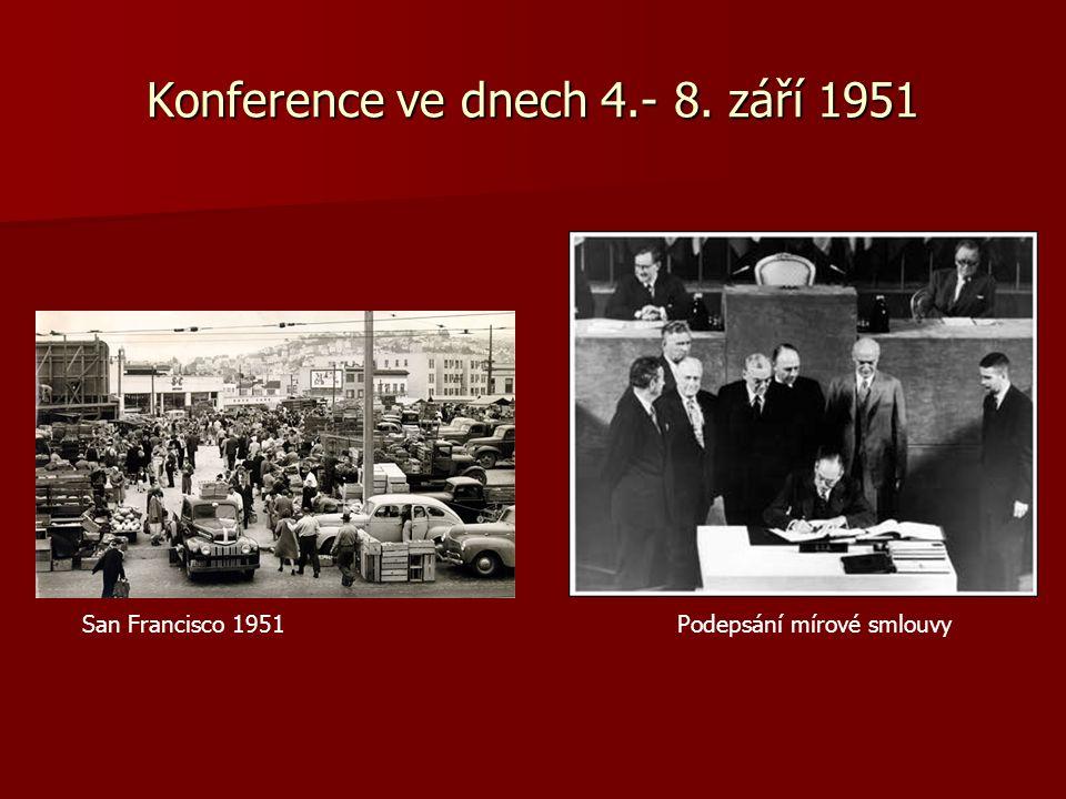 Konference ve dnech 4.- 8. září 1951