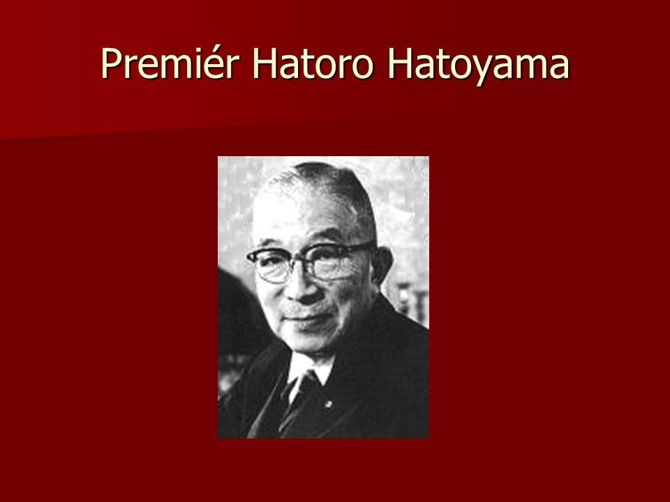 Premiér Hatoro Hatoyama