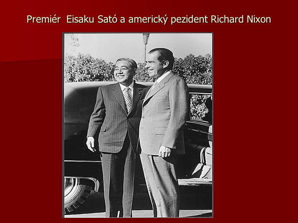 Premiér Eisaku Sató a americký pezident Richard Nixon