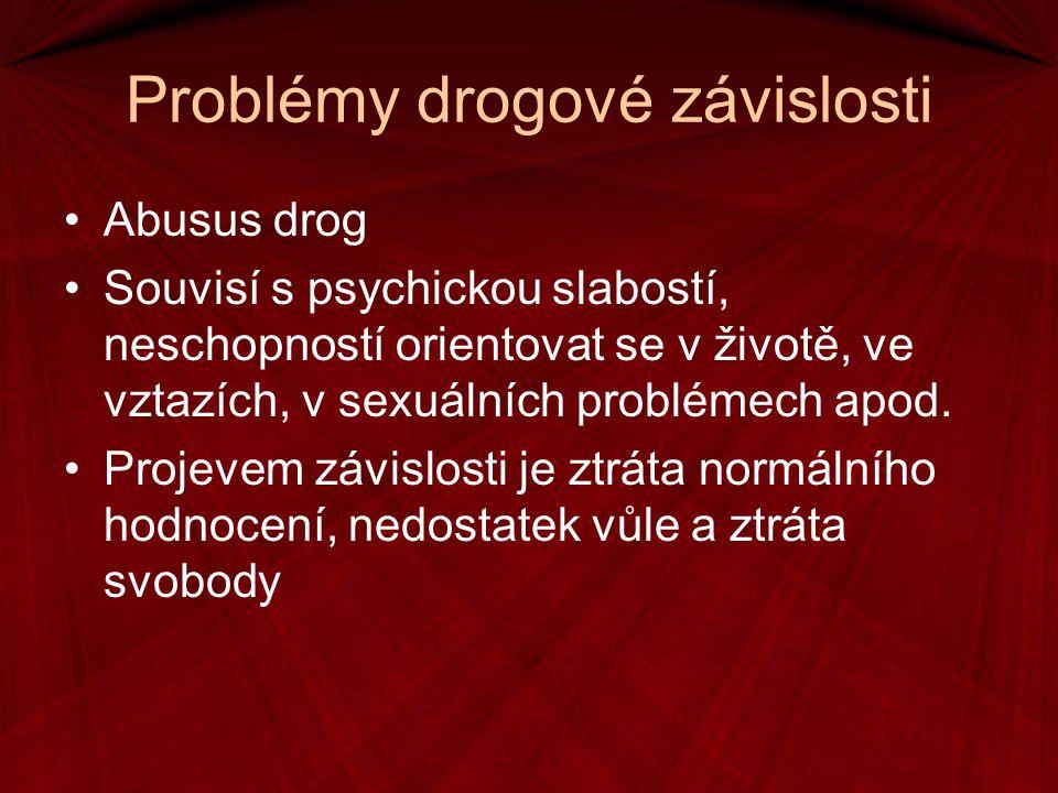 Problémy drogové závislosti