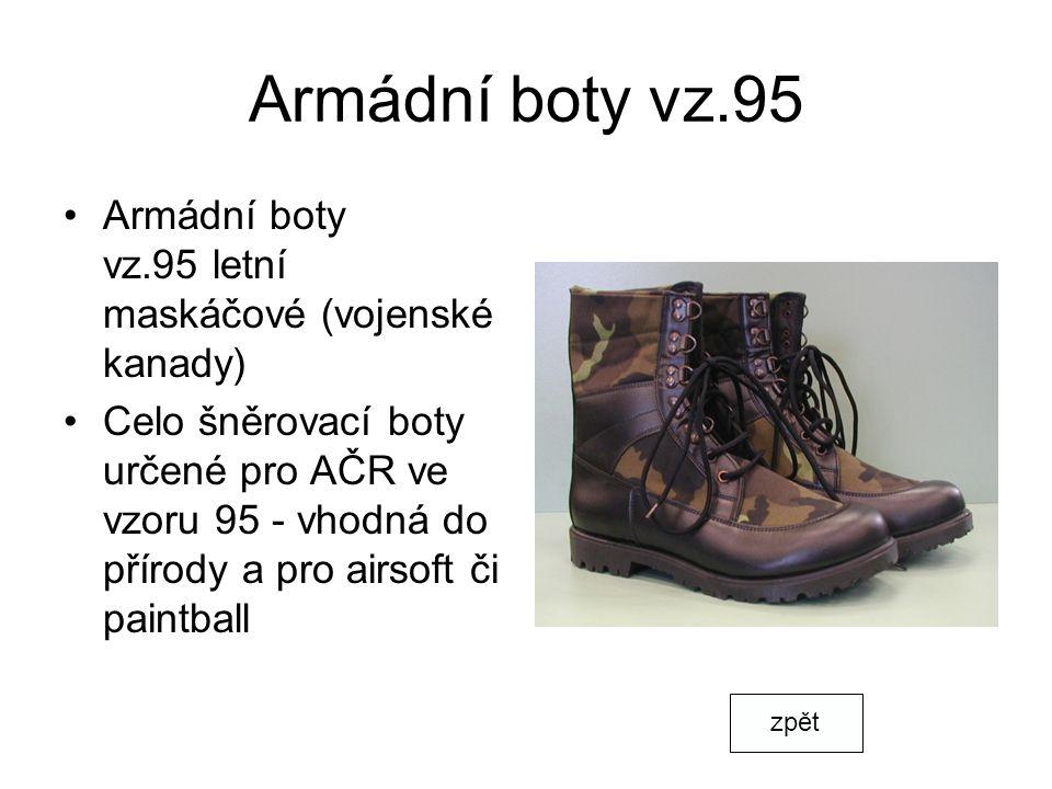 Armádní boty vz.95 Armádní boty vz.95 letní maskáčové (vojenské kanady)