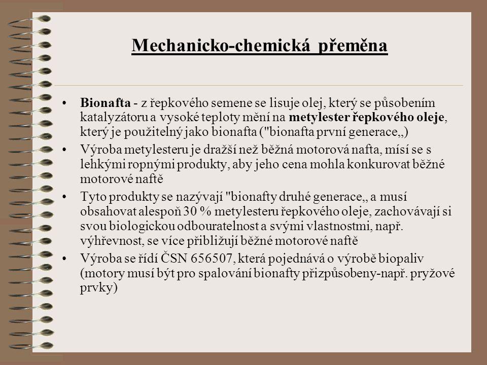 Mechanicko-chemická přeměna