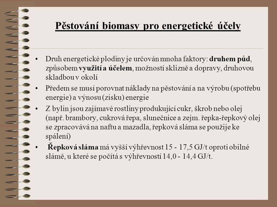 Pěstování biomasy pro energetické účely