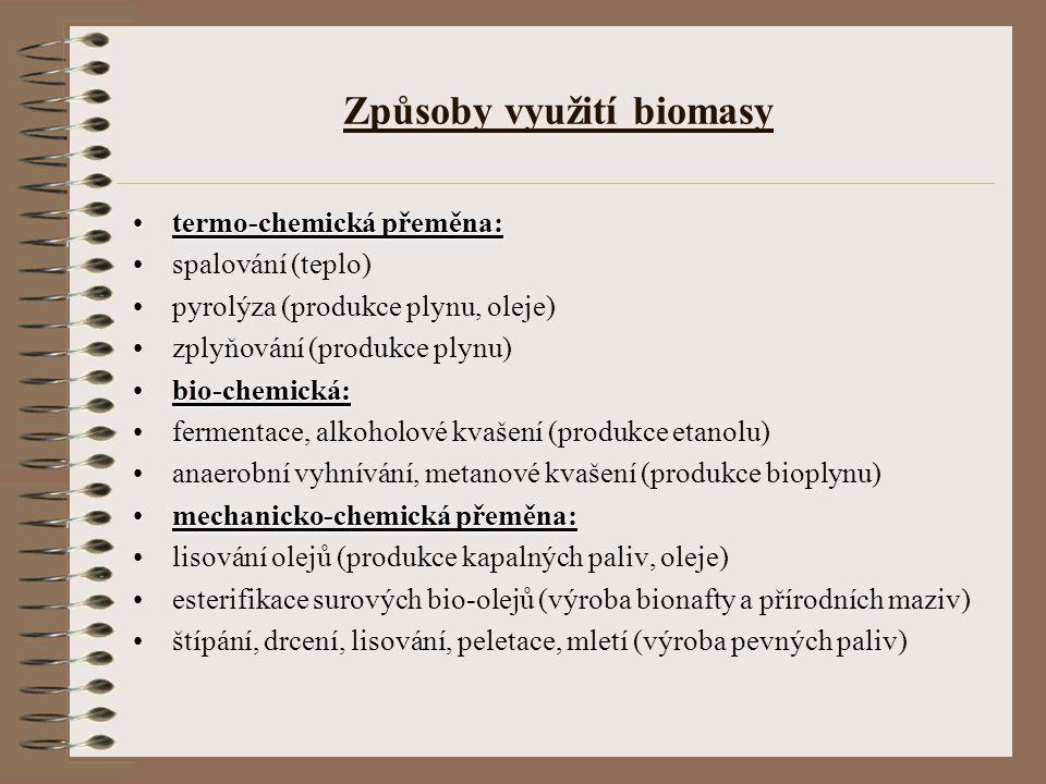 Způsoby využití biomasy