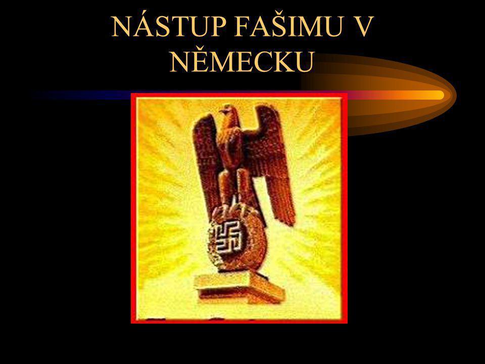 NÁSTUP FAŠIMU V NĚMECKU