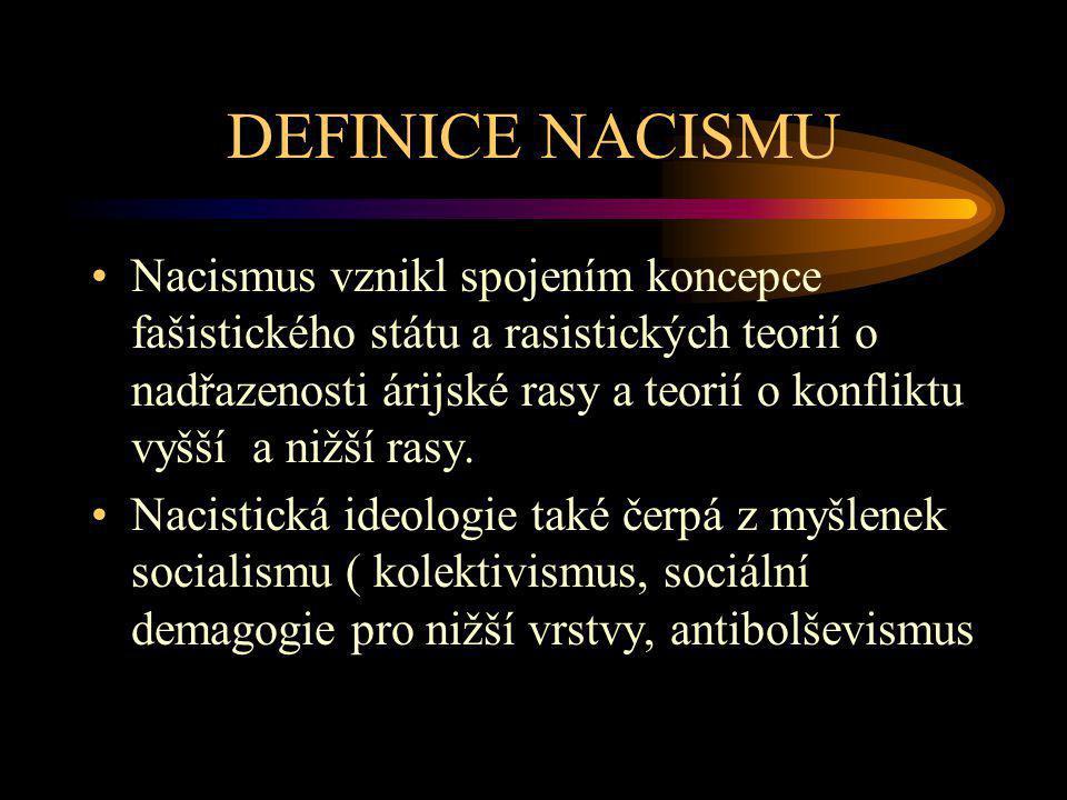 DEFINICE NACISMU