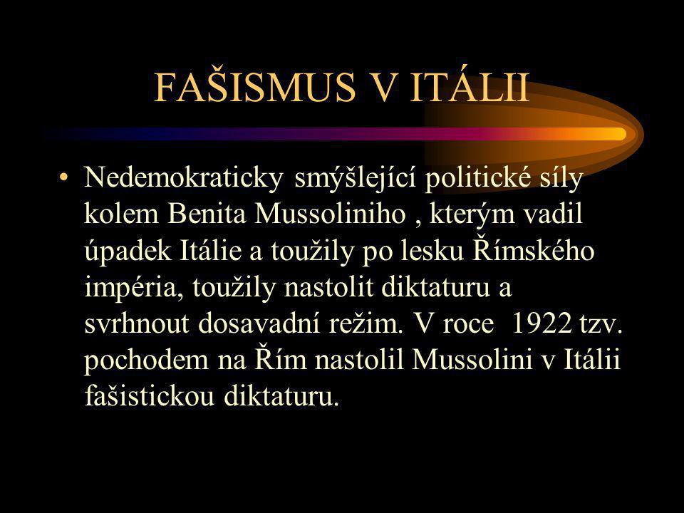 FAŠISMUS V ITÁLII