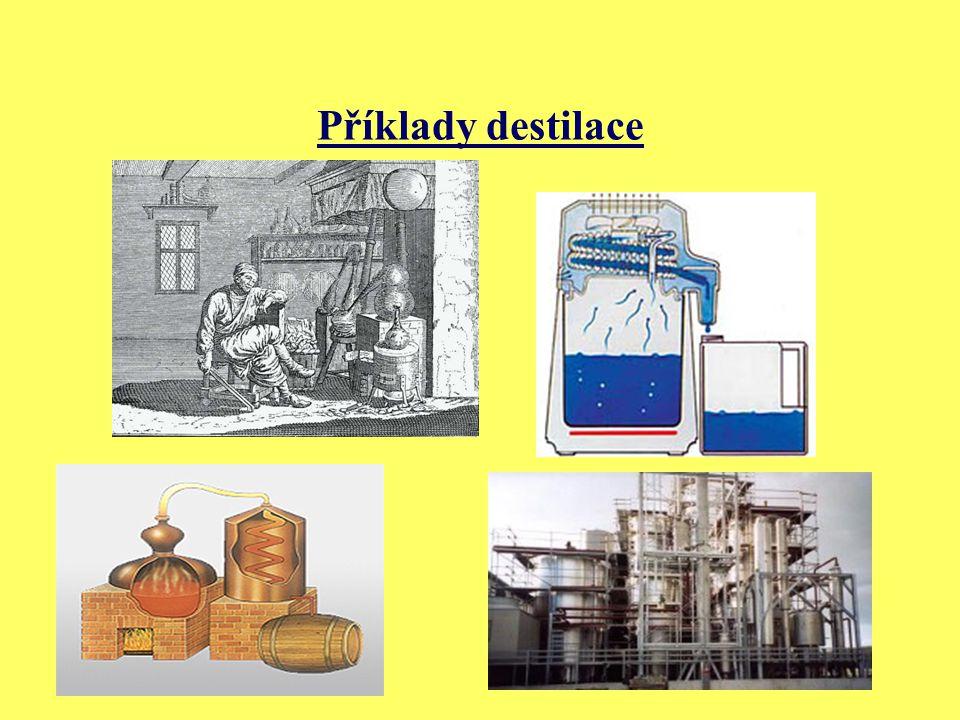 Příklady destilace