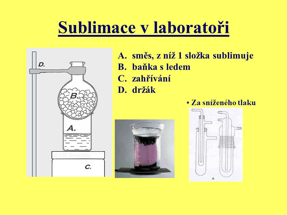 Sublimace v laboratoři