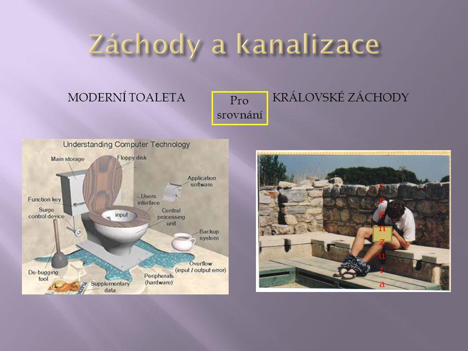 Záchody a kanalizace Moderní toaleta Královské záchody Pro srovnání
