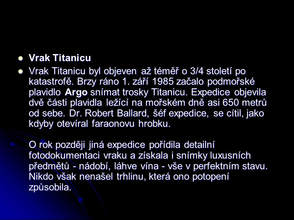 Vrak Titanicu