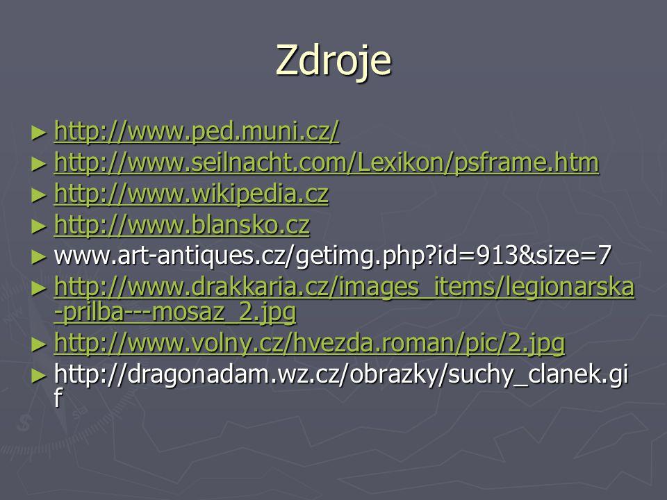 Zdroje http://www.ped.muni.cz/