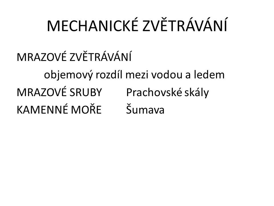 MECHANICKÉ ZVĚTRÁVÁNÍ