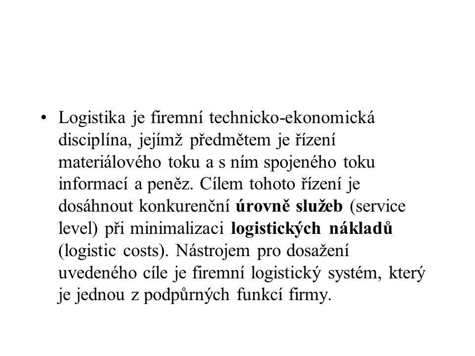 Logistika je firemní technicko-ekonomická disciplína, jejímž předmětem je řízení materiálového toku a s ním spojeného toku informací a peněz.