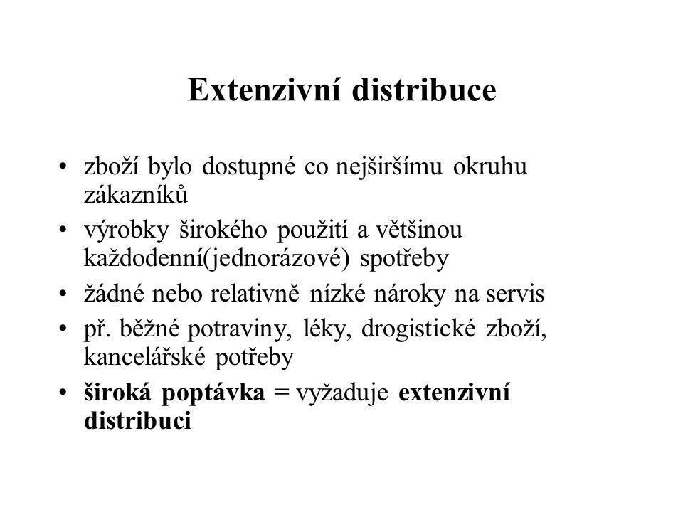 Extenzivní distribuce
