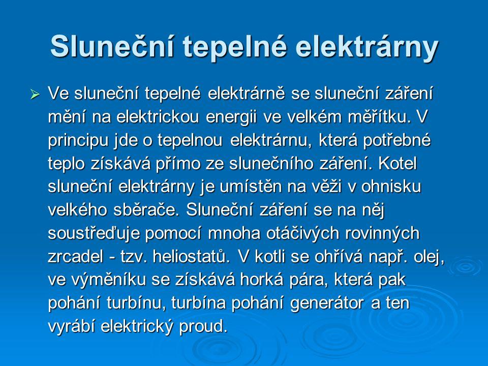 Sluneční tepelné elektrárny