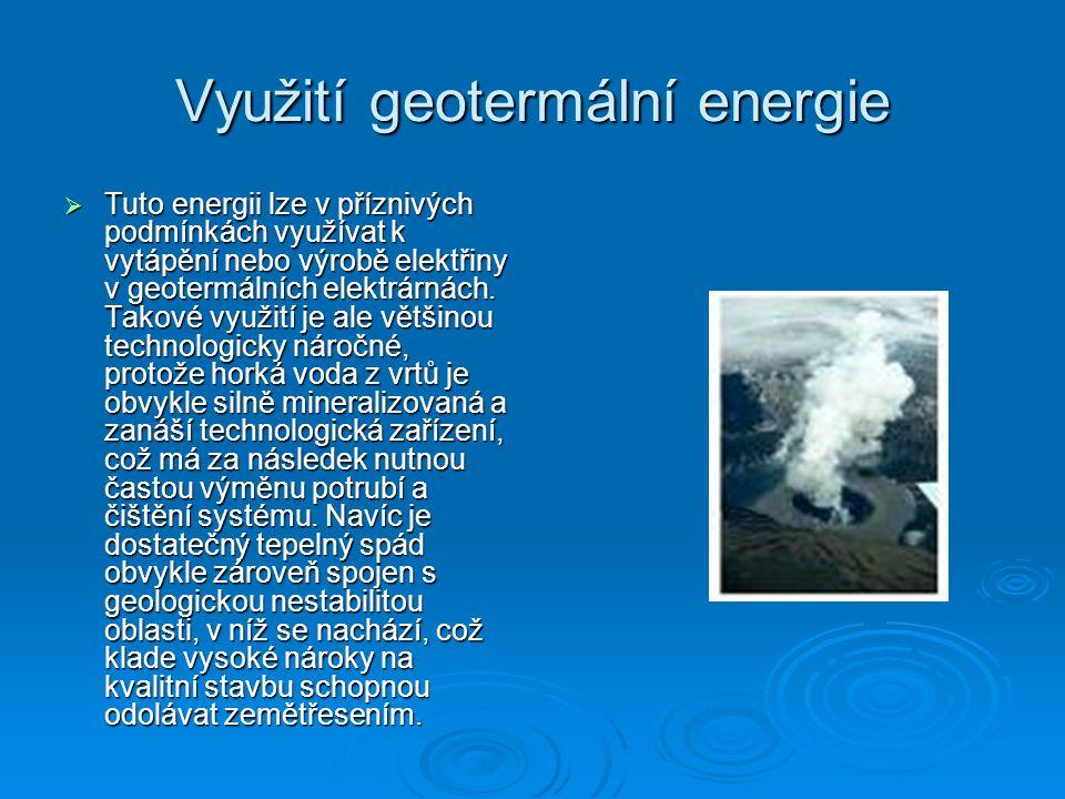 Využití geotermální energie