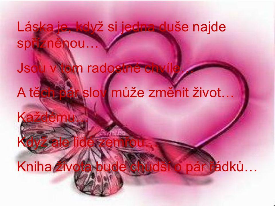 Láska je, když si jedna duše najde spřízněnou…
