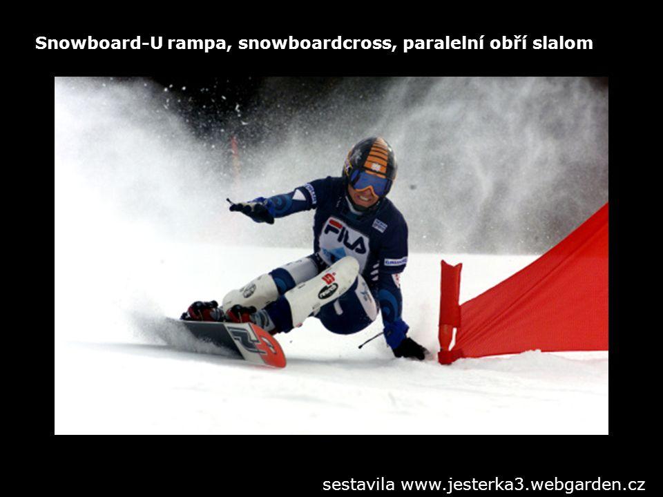 Snowboard-U rampa, snowboardcross, paralelní obří slalom