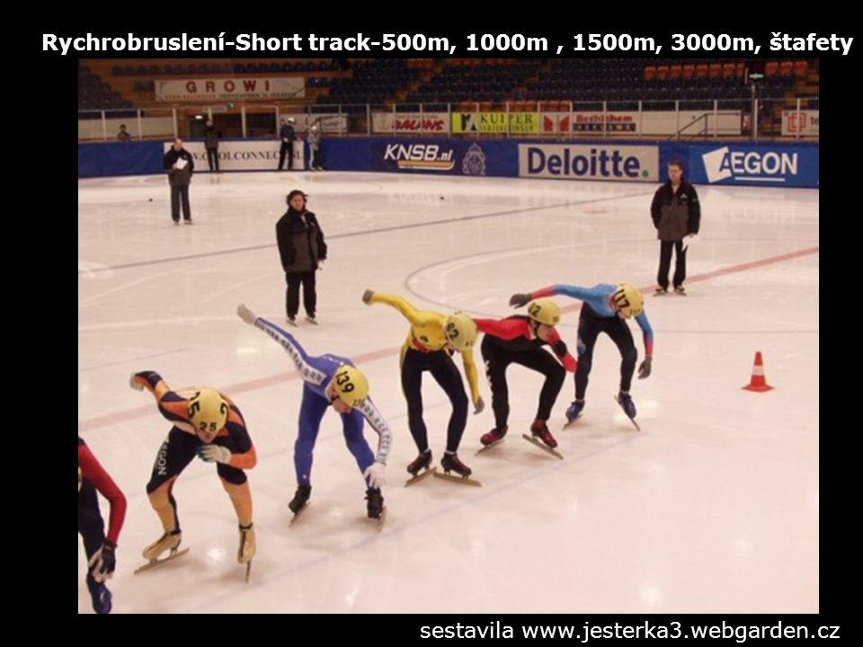 Rychrobruslení-Short track-500m, 1000m , 1500m, 3000m, štafety