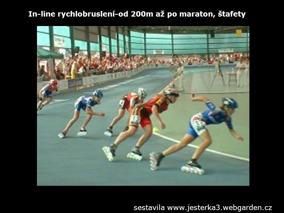 In-line rychlobruslení-od 200m až po maraton, štafety