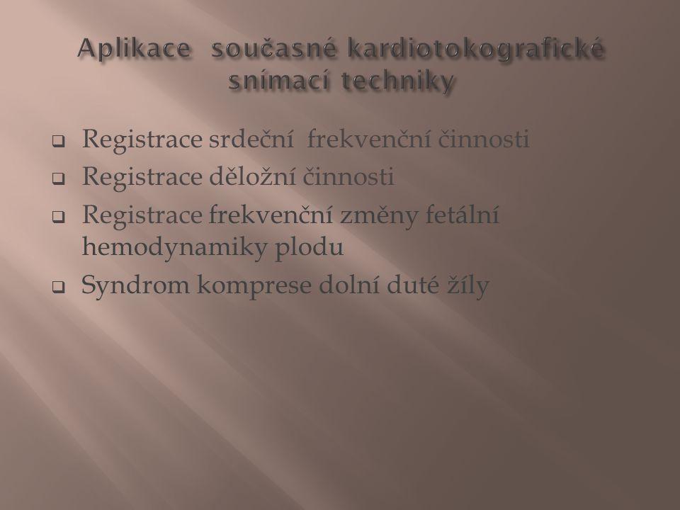 Aplikace současné kardiotokografické snímací techniky