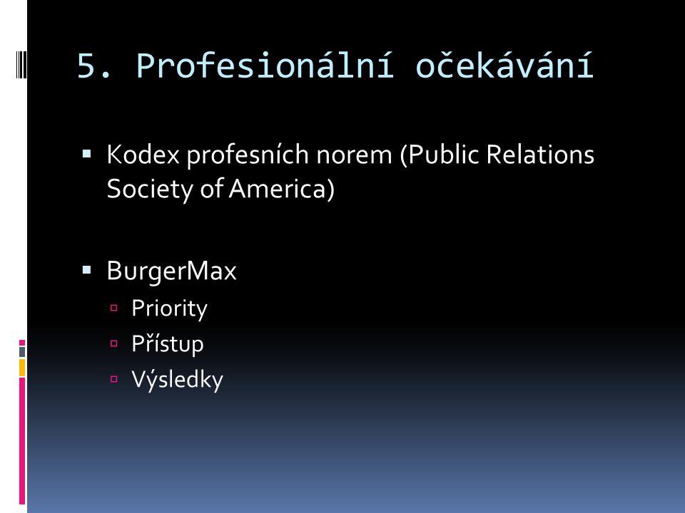 5. Profesionální očekávání