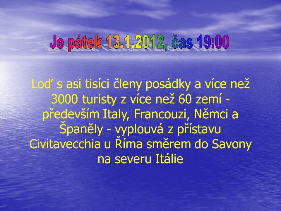 Je pátek 13.1.2012, čas 19:00