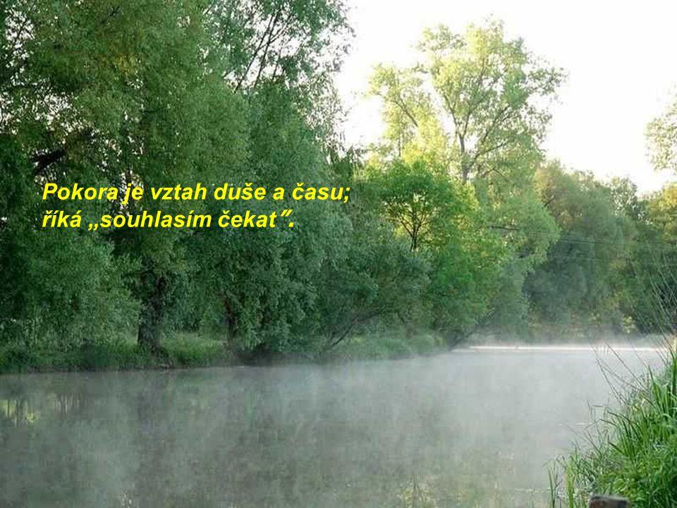 """Pokora je vztah duše a času; říká """"souhlasím čekat ."""