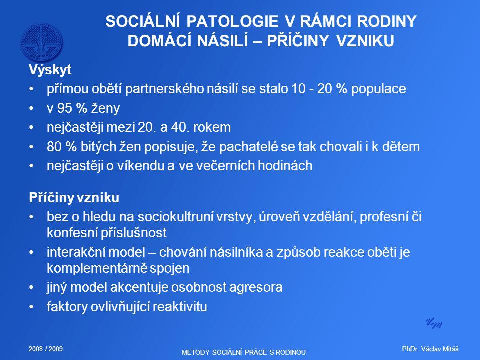 SOCIÁLNÍ PATOLOGIE V RÁMCI RODINY DOMÁCÍ NÁSILÍ – PŘÍČINY VZNIKU