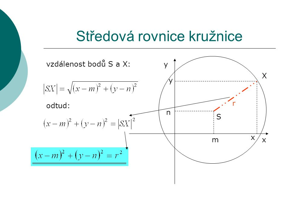 Středová rovnice kružnice