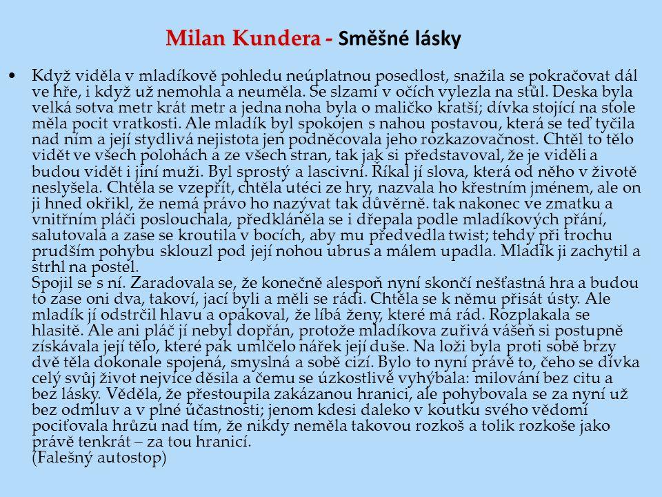Milan Kundera - Směšné lásky