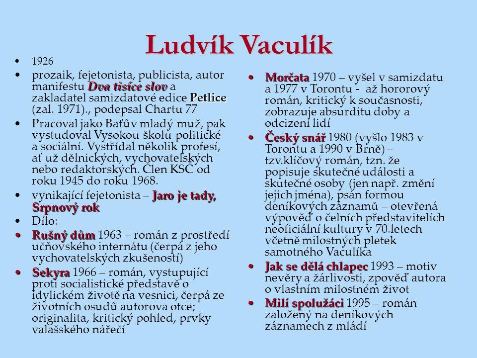 Ludvík Vaculík 1926.