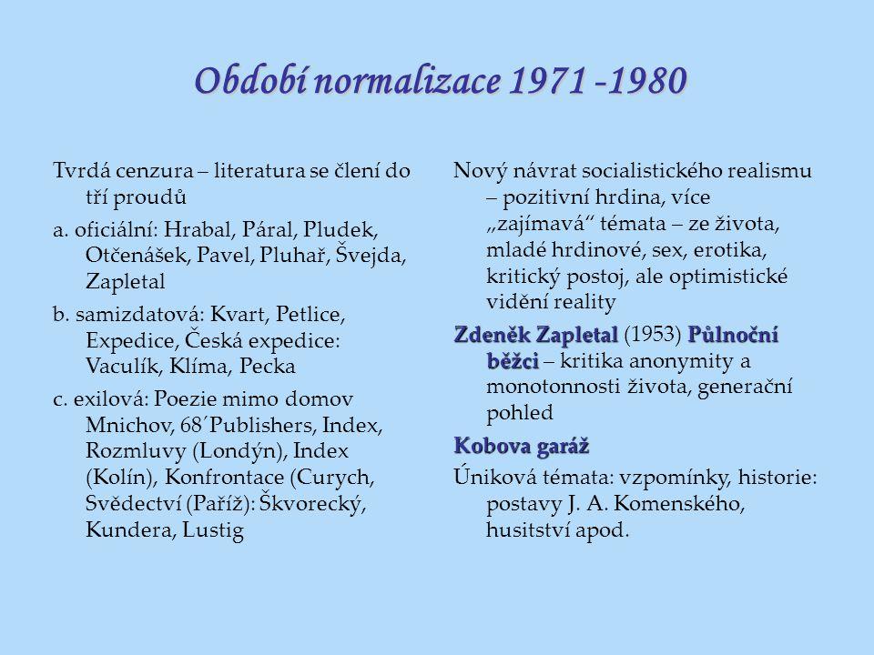 Období normalizace 1971 -1980