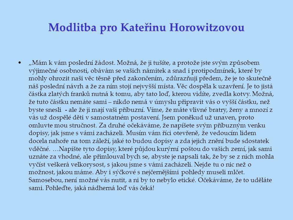Modlitba pro Kateřinu Horowitzovou
