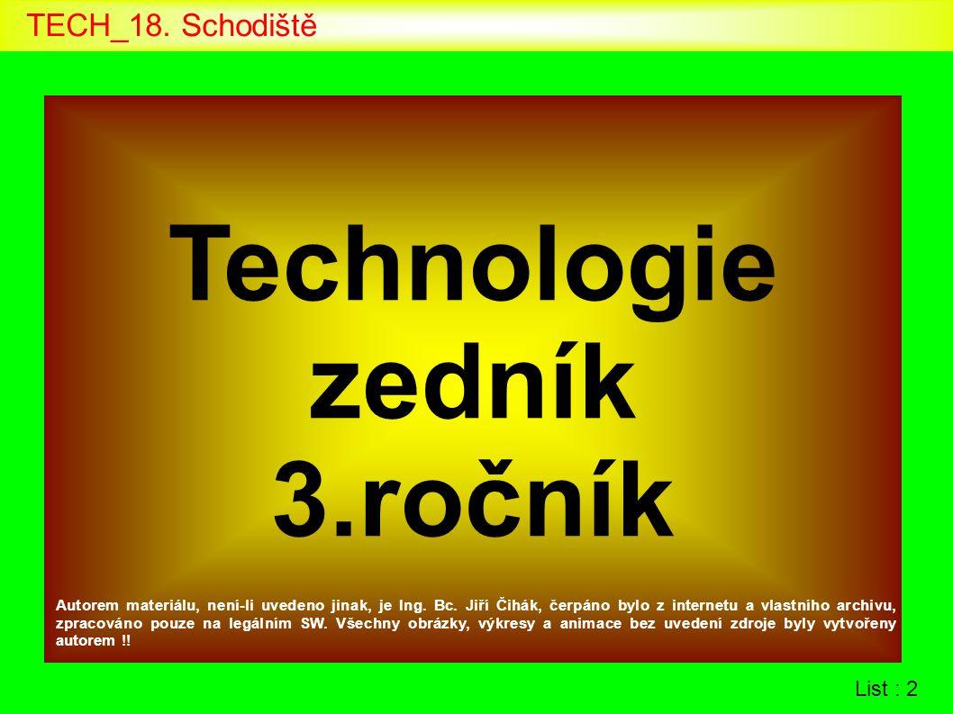 Technologie zedník 3.ročník