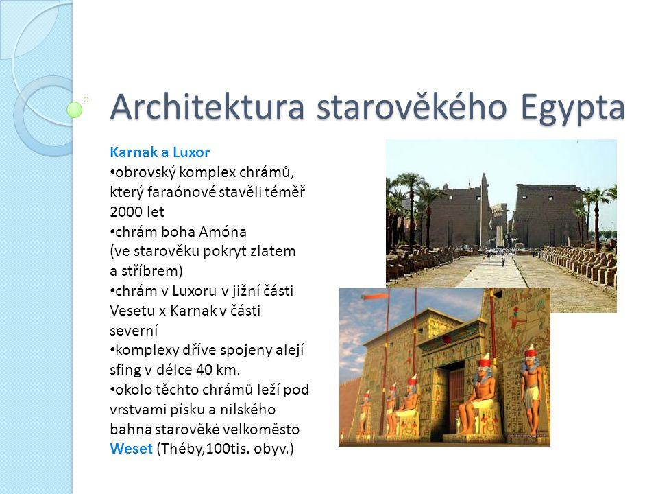 Architektura starověkého Egypta