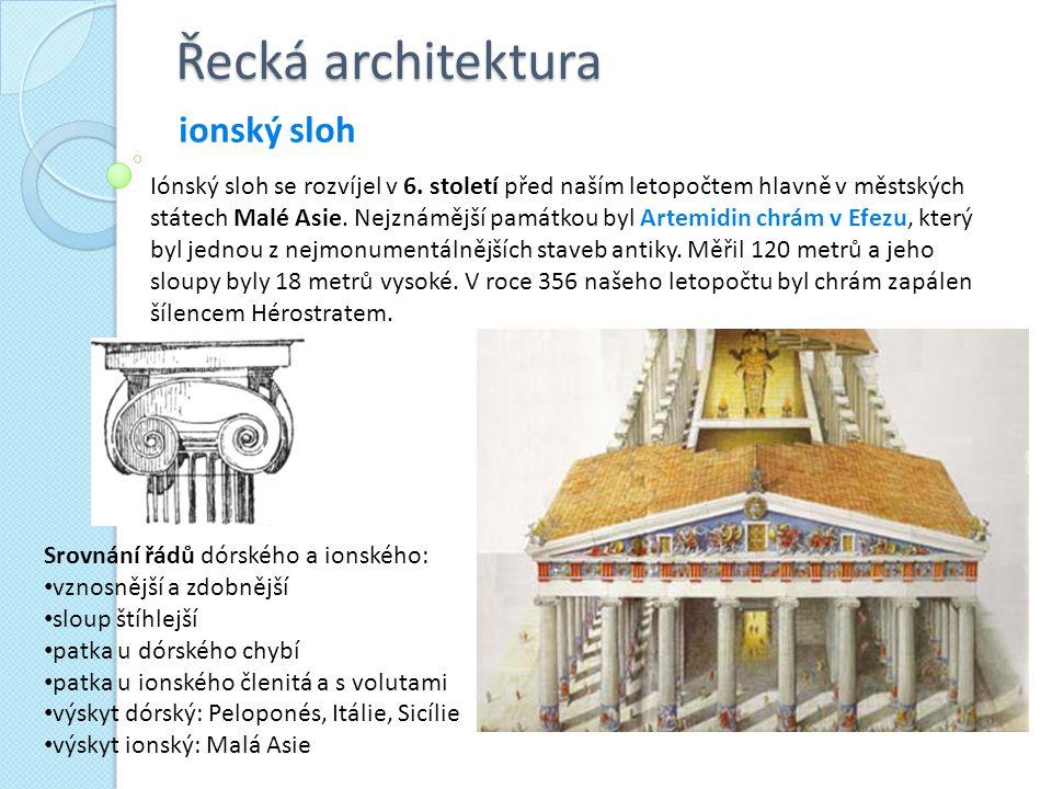 Řecká architektura ionský sloh
