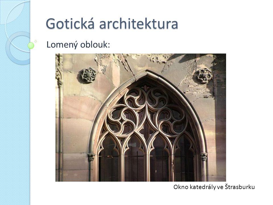 Okno katedrály ve Štrasburku