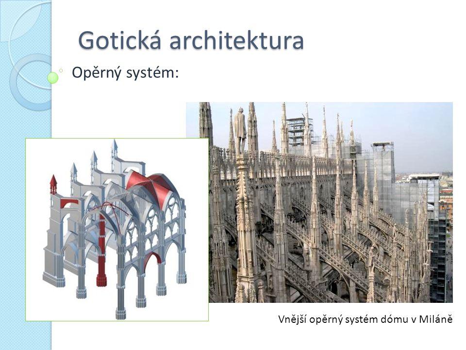 Vnější opěrný systém dómu v Miláně
