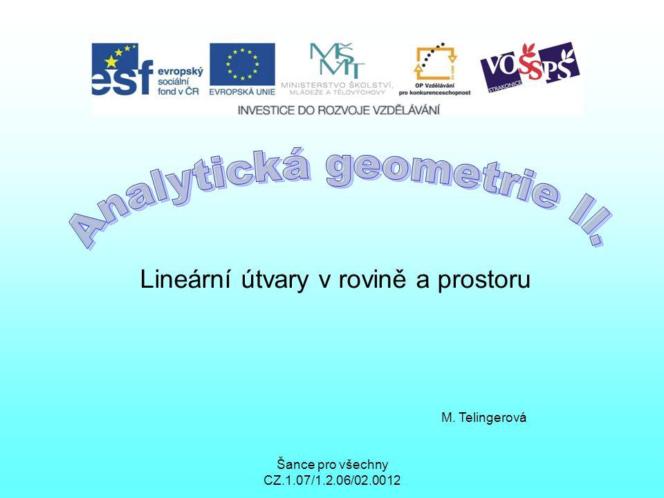 Analytická geometrie II.