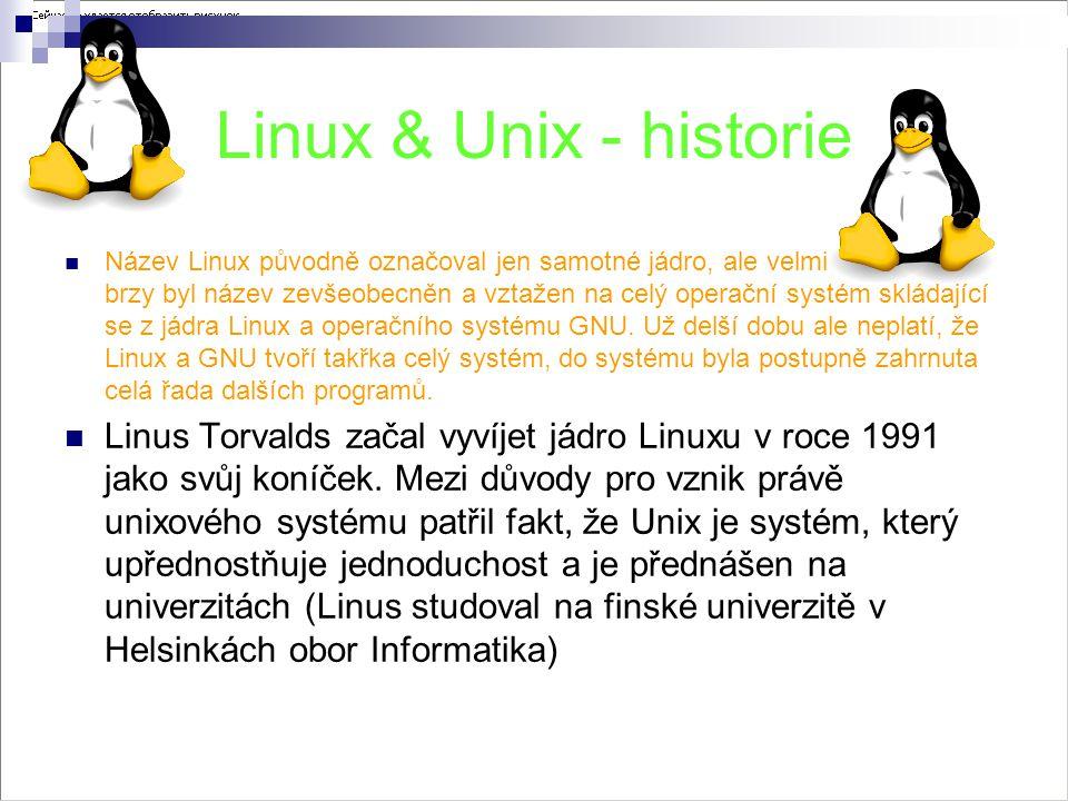 Linux & Unix - historie
