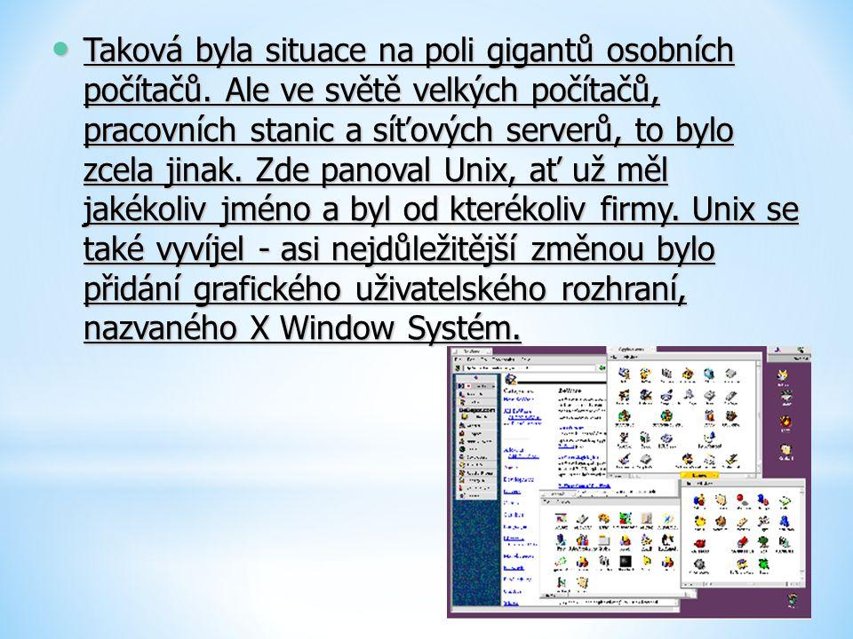 Taková byla situace na poli gigantů osobních počítačů