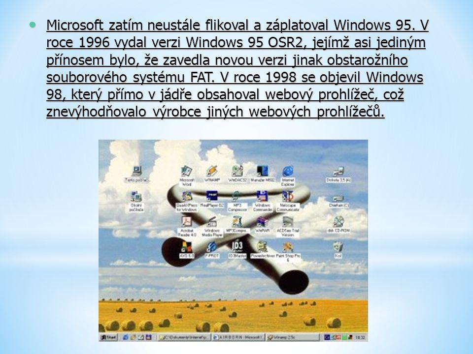 Microsoft zatím neustále flikoval a záplatoval Windows 95