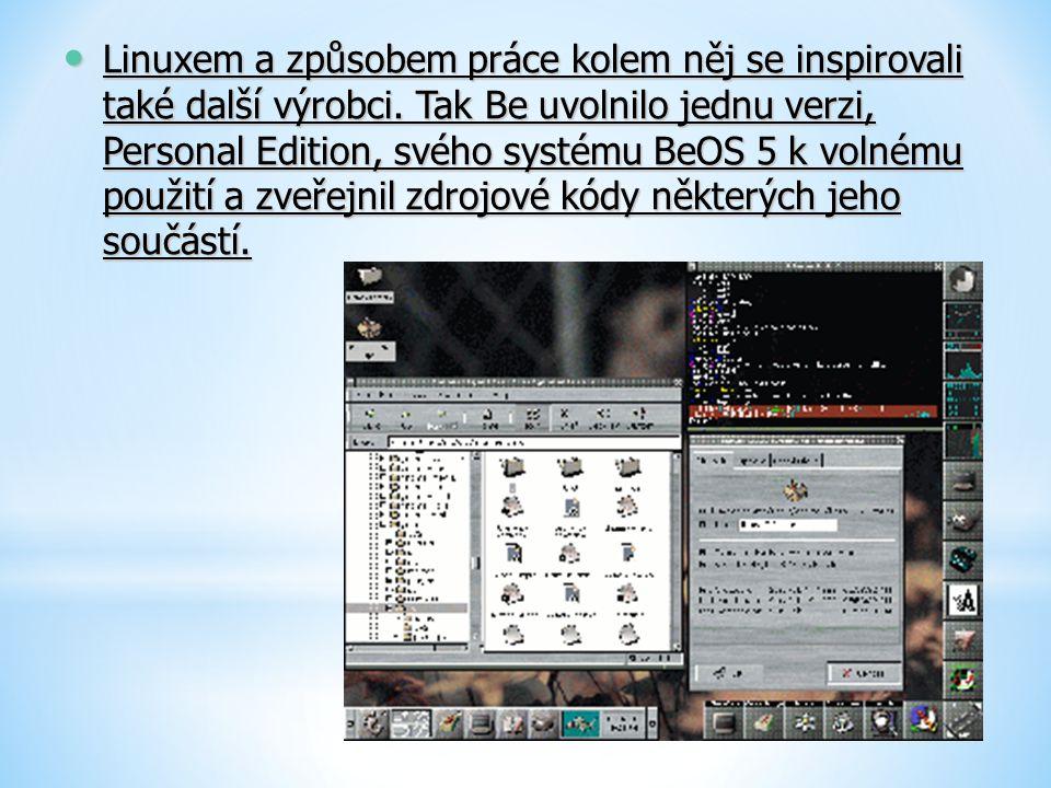 Linuxem a způsobem práce kolem něj se inspirovali také další výrobci