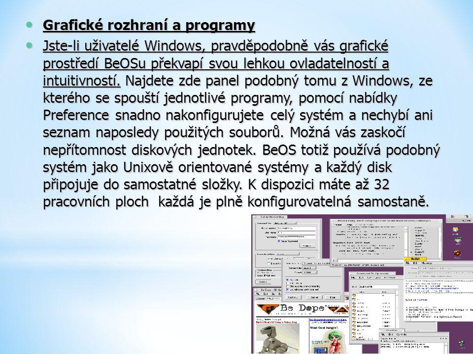 Grafické rozhraní a programy