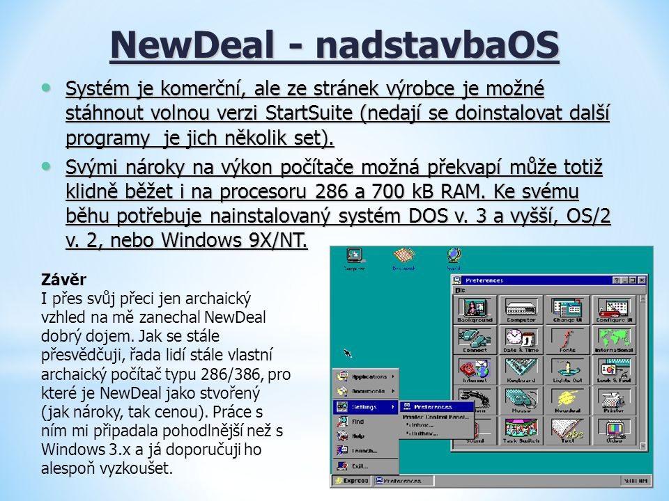 NewDeal - nadstavbaOS